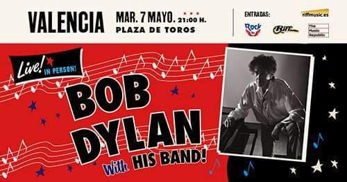 BOB DYLAN 7 MAYO 2019 PLAZA DE TOROS  Fb_im284