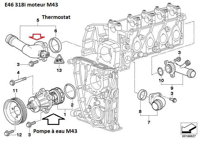 [ BMW E46 318i M43 ] Fuite LDR au niveau du thermostat (Résolu) 11_20610