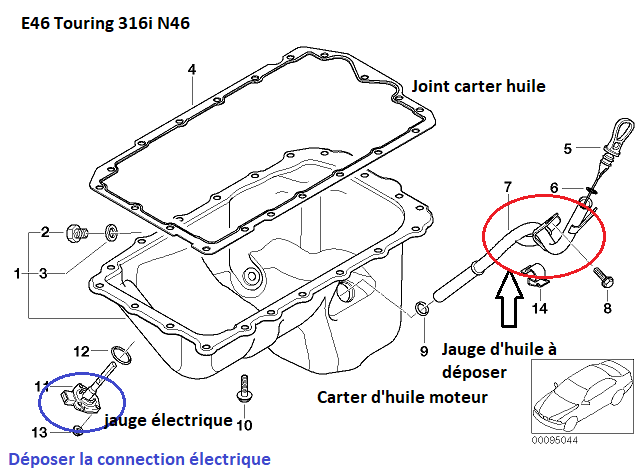 [ BMW E46 316i N46 an 2005 ] Fuite joint carter d'huile ? 11_31711