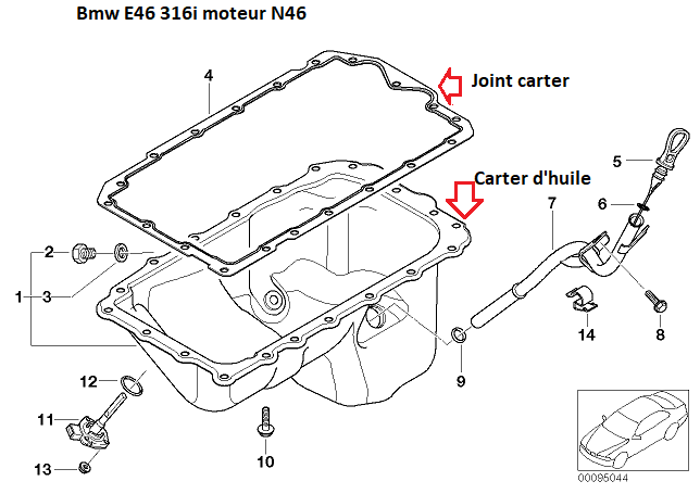 [ BMW E46 316i N46 an 2005 ] Fuite joint carter d'huile ? - Page 2 11_31712