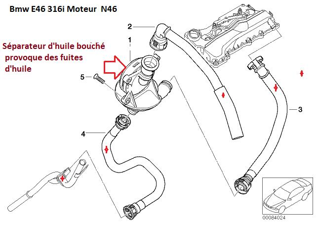 [ BMW E46 316i N46 an 2005 ] Fuite d'huile et pièce qui bouge 11_31813