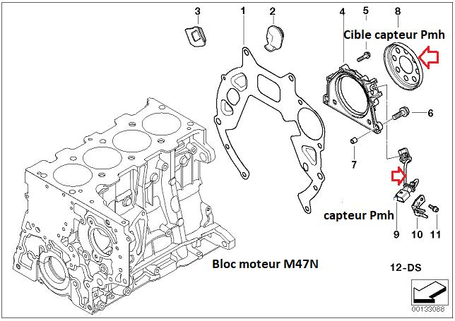 [ BMW E90 330D an 2006 ] ne démarre plus après changement volant moteur et embrayage. 11_33010