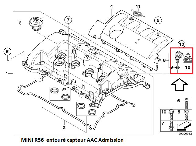 [ Mini Cooper1.6L R56 N.12 ess an 2008 ] problème de Vanos 11_39510