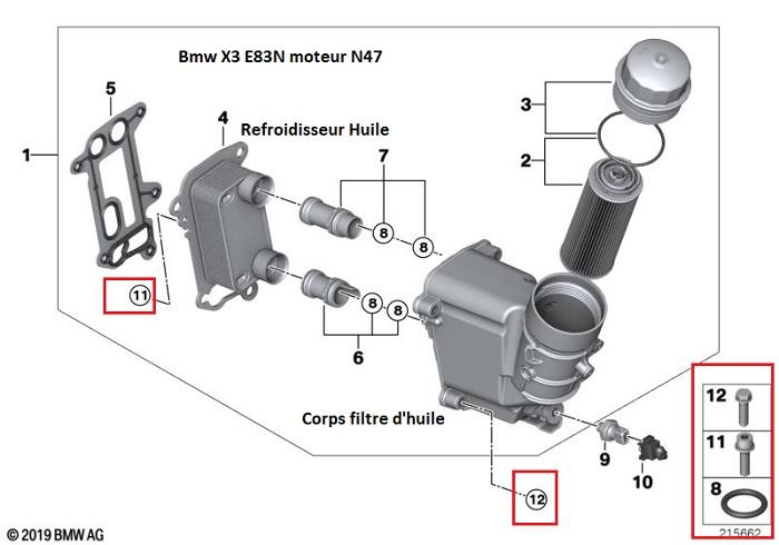 [ BMW E83 X3 xDrive 2.0D N47d20a an 2007 ] Démontage moteur suite cliquetit 11_40610
