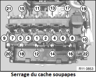 [ Bmw E46 318d M47N an 2005 ] changer le joint de cache culbuteur 11_cac10