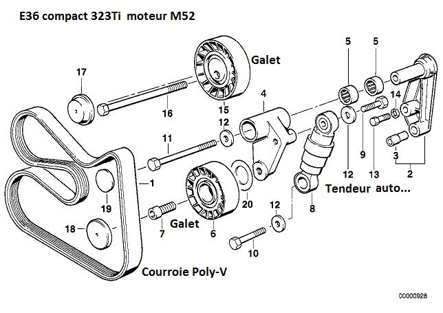 [ BMW E36 323Ti M52 b25 an 1998 ] Sifflement moteur/embrayage ? 11_e3614