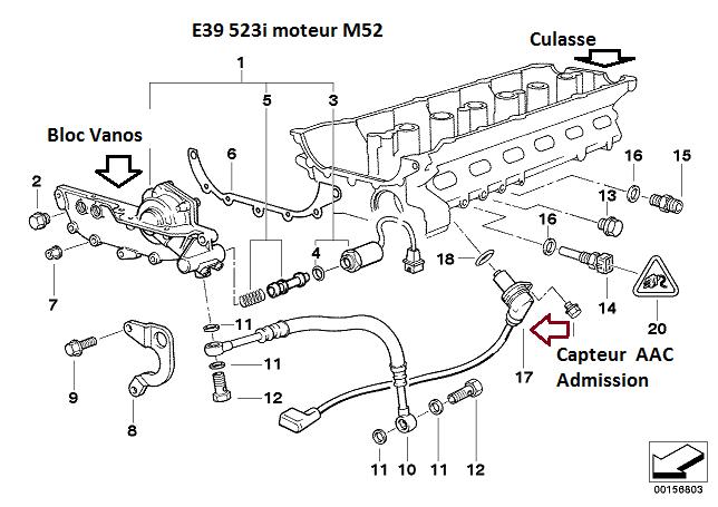 BMW E39 523ia de 1996 problème ralenti + puissance 11_e3911
