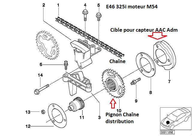 [ BMW e46 325i m54 an 2003 ] problème capteur arbre à came côté admission (Résolu) 11_e4614