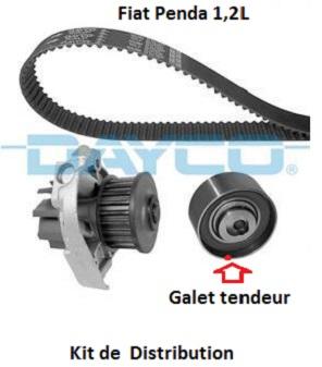 distribution -  [ Fiat panda 1,2 Ess an 2003 ] galet tendeur de distribution 11_fia10