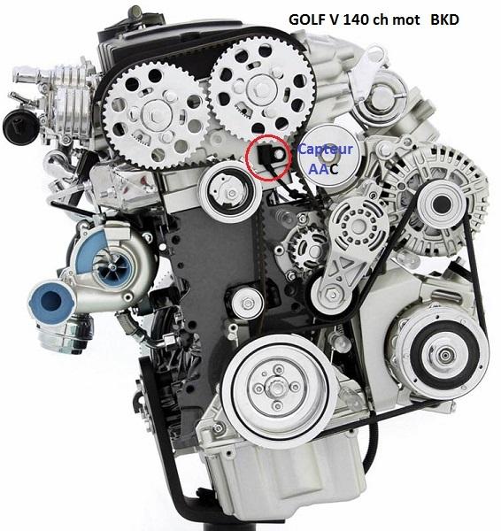[ VW Golf V tdi 140 BKD DSG an 2007 ] Moteur coupe au ralenti 11_gol10