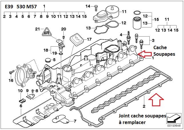 [ BMW E39 530d M57 an 2001 ] huile dans puits injecteur 11_m5712