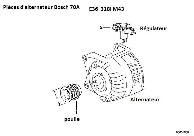 [ Bmw E36 318i M43 an 1997 ] alternateur  12_alt10