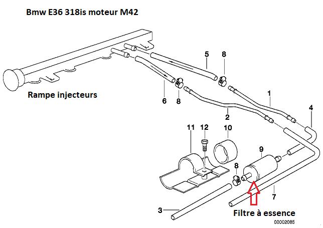 [ Bmw e36 318is m42b18 an 1993 ] coupure moteur en roulant  13_06010
