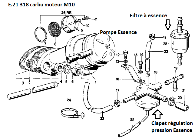 [ Bmw e21 318 carbu an 1978 ] avec ou sans clapet de retour d'essence ? (résolu) 13_e2110