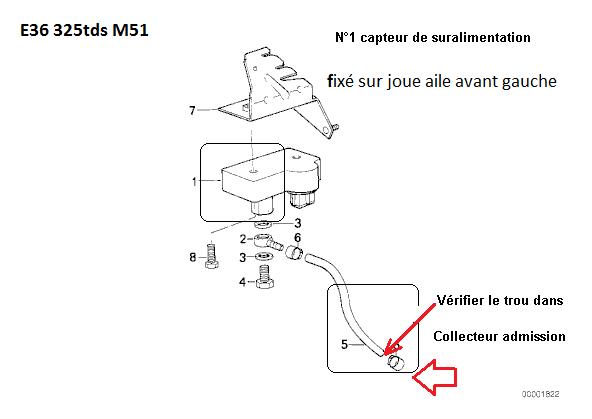 [BMW E36 325 tds. an 1998] changement de Débitmètre dis obligatoire 13_e3411