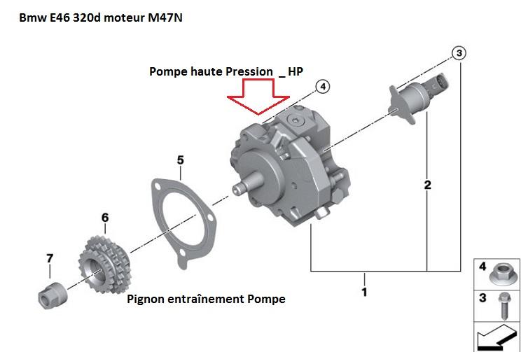 BMW 320d 150cv 2003 moteur tourne sur 3 cylindres 13_pom10
