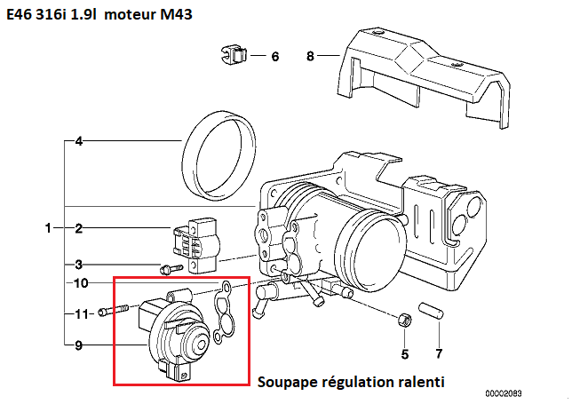 [ BMW e46 316i M.43 Bva an 1999 ] Ralenti moteur 13_sou11