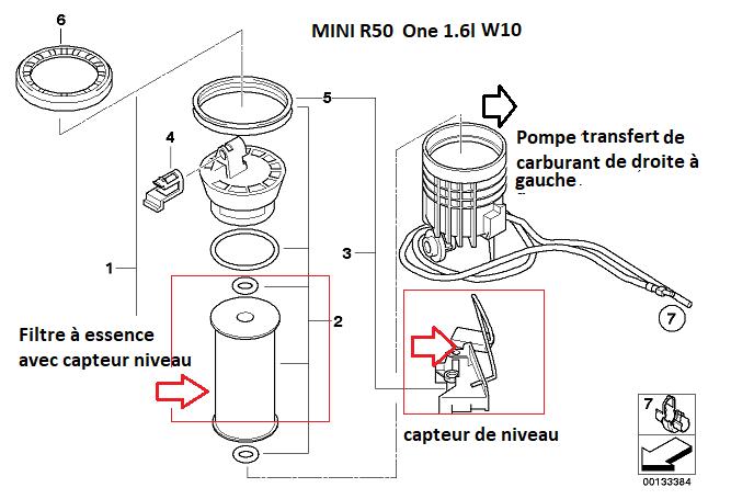 [ Mini R50 One 1.6 i 90cv an 2002 ] pas d'arrivé d'essence 16_05012