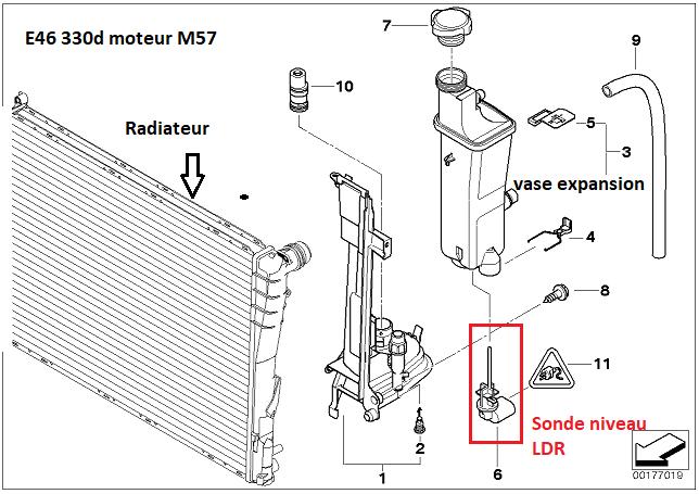 [ BMW e46 330D M57 an 2003 ] problème de sonde ldr 17_01410