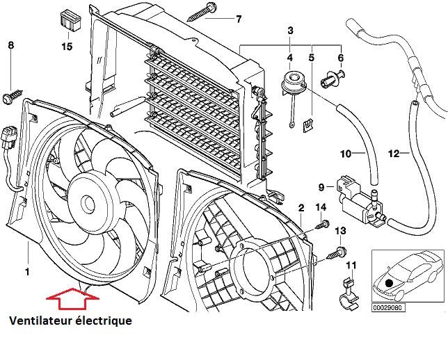 [BMW E46 320d  M 47 année 1998 ] Ventilateur en panne ! 17_e4611