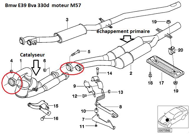 [ bmw e46 330d M57 an 1999 ] Changer le catalyseur  18_e3910