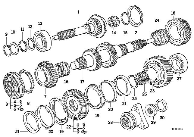 [ BMW E46 318i M43B19 an 2000 ] Réfection de boîte de vitesse manuelle 23_07110