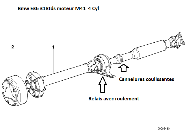 [ BMW E36 318tds M41 an 1998 ] problème arbre de transmission(Résolu) 26_02810