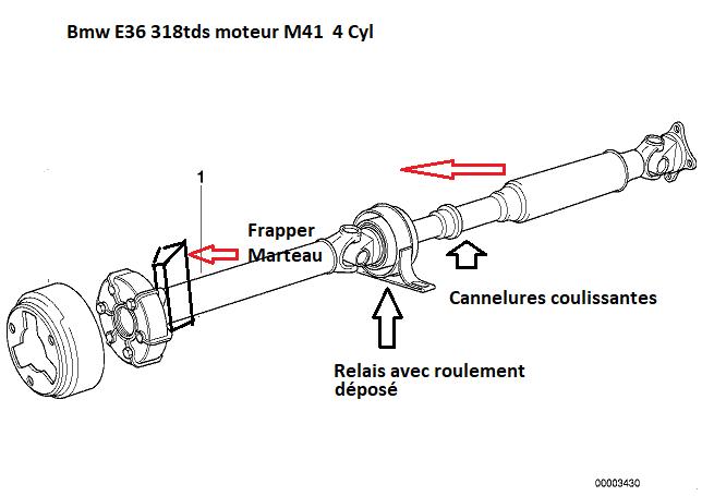 [ BMW E36 318tds M41 an 1998 ] problème arbre de transmission(Résolu) 26_02812