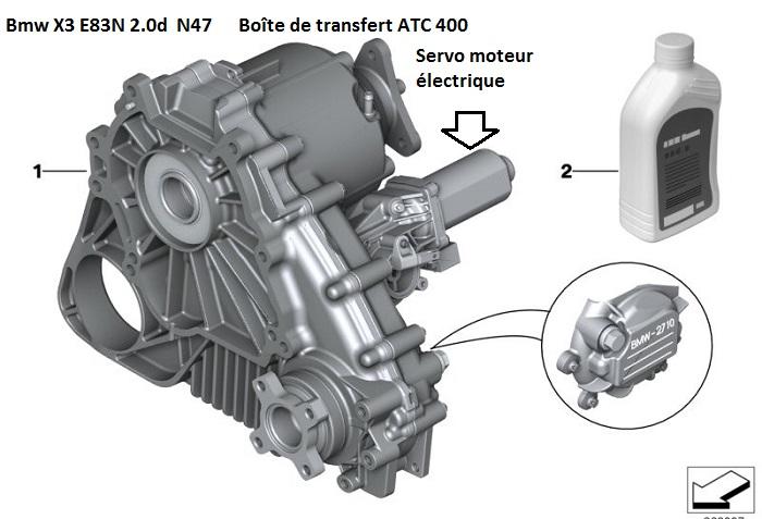 [  BMW X3 E83N  2.0d N47 / 2010 177ch auto ]BOITE DE TRANSFERT X 3 27_x3_10
