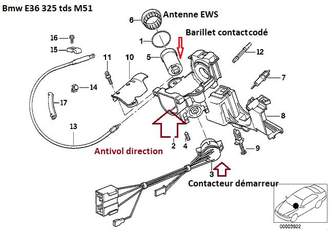 [ BMW E36 325 TDS an 1998 ] clef qui tourne dans le vide neiman 32_cyl10