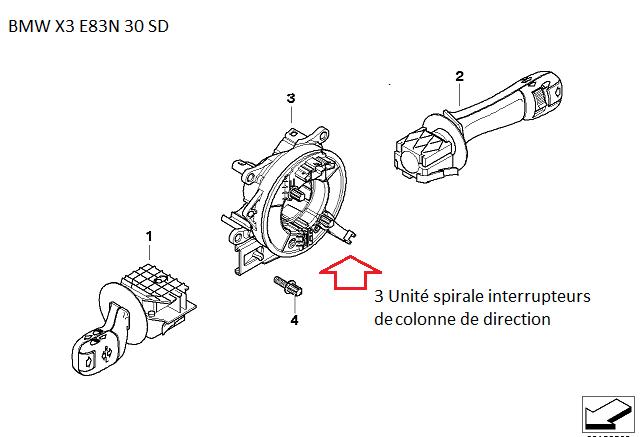 [résolu][BMW X3 E83N année 2009 3.0 SD] voyants 4x4 airbag et frein? - Page 2 32_int10