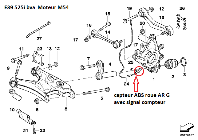 [ BMW E39 525I M54 BVA an 2002 ] Problème boitier ou capteur ABS( Résolu) 33_05110