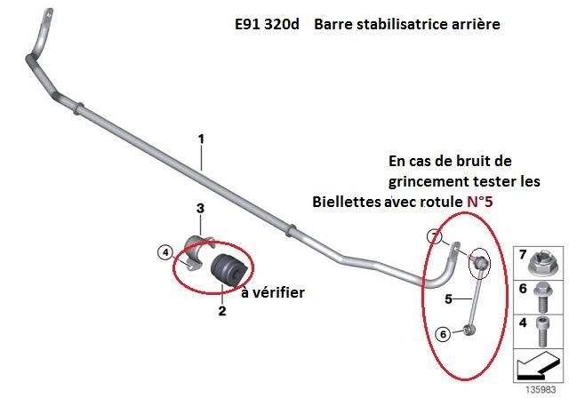 [ BMW E91 320d touring an 2007 ] Grincement train arrière  33_bar10