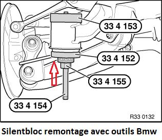 [ bmw E34 525i 24V m50 b25 an 1990 ] silent bloc essieu arrière 33_e3910