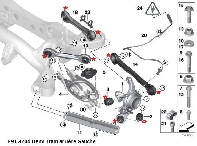 [ BMW E91 320d touring an 2007 ] Grincement train arrière  33_e9111