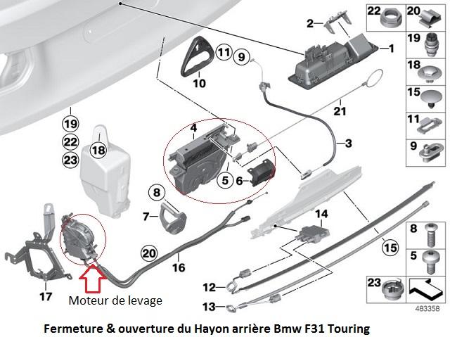 [ BMW F31 320d an 2014 ] télécommande du coffre aléatoire 41_f3110