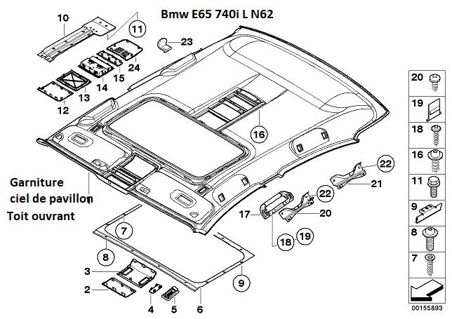 [résolu][ BMW E66 740LI an 2006 ] Infiltration d'eau venant de l'écoulement du toit ouvrant(Résolu) 51_57410