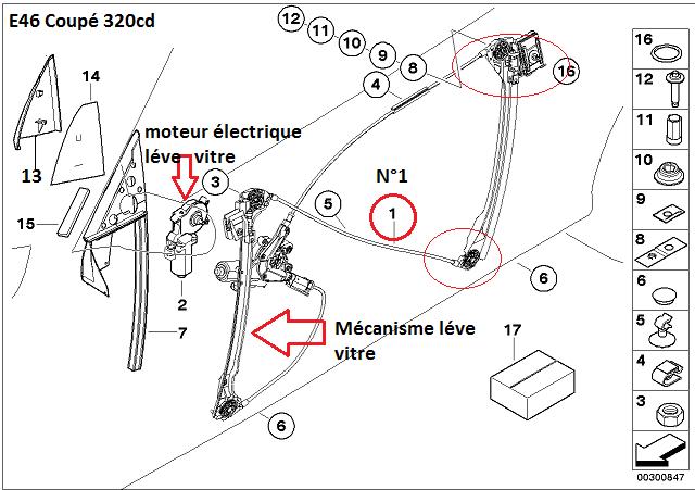 [ BMW E46 320CD an 2004 ] probleme vitre et ouverture porte 51_e4610