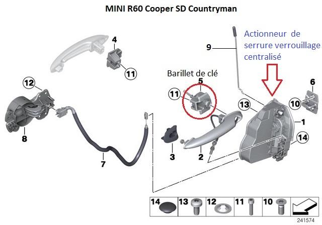 [ Mini R60 Countryman Cooper SD an 2011 ] fermeture centralisée 51_min11