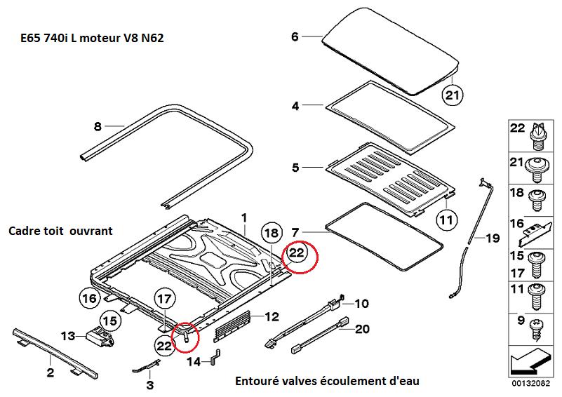 [résolu][ BMW E66 740LI an 2006 ] Infiltration d'eau venant de l'écoulement du toit ouvrant(Résolu) 54_cad10