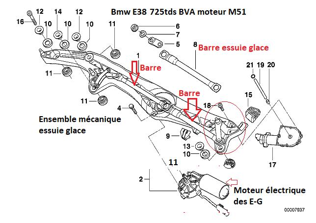 [ BMW E38 725TDS M51 BVA an 1997 ] Essuie-Glaces qui ne fonctionnent plus 61_01011