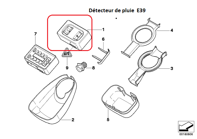 [ BMW e39 540 ia an 2001 ] Détecteur de pluie 61_58010