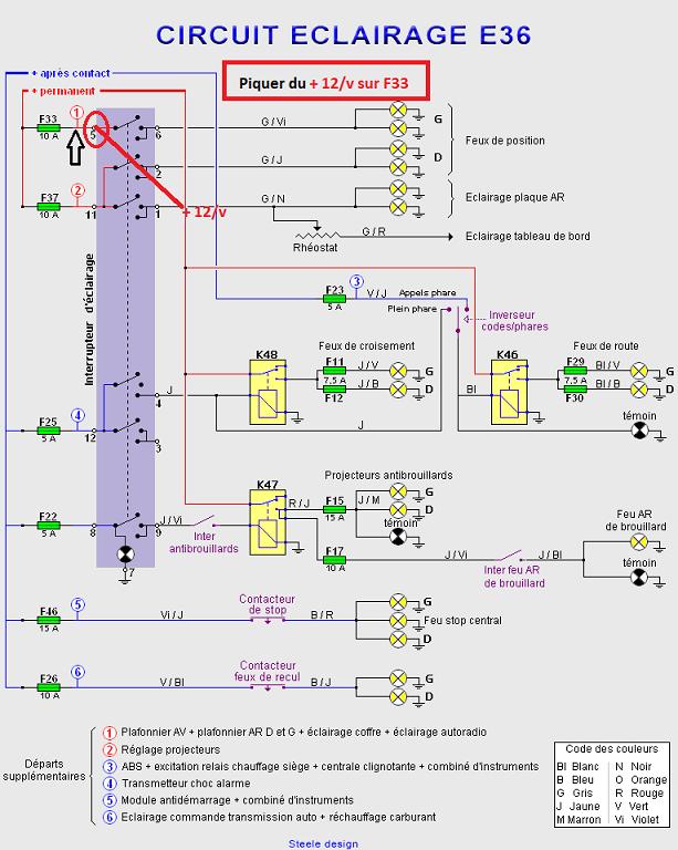 [ BMW e36 cab 325i an 1994 ] problème éclairage tableau de bord et plaque immatriculation (Résolu) 61_cir10
