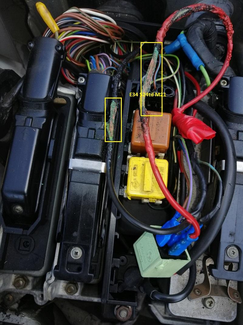 [ Bmw e34 524td an 1982 ] Problème électrique 61_e3413