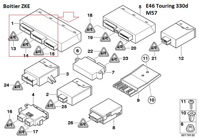[ BMW E46 330d an 2001 ] Problèmes électriques multiples 61_e4610