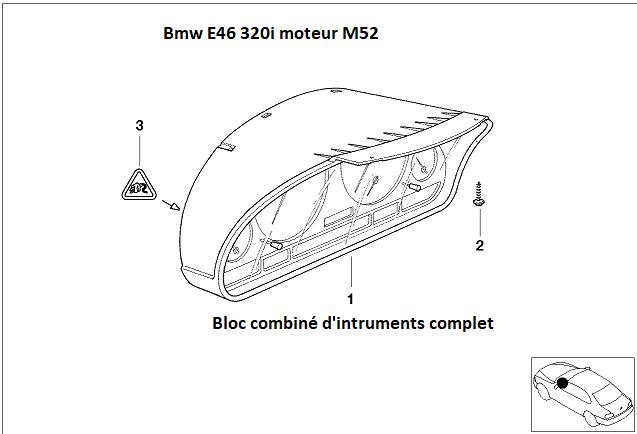 [résolu][ BMW E46 320i an 2001 ] Panne tableau de bord et compteurs (Résolu) 62_03110