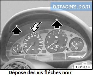 [ BMW E34 520i an 1991 ] Démontage bloc compteur 62_con10