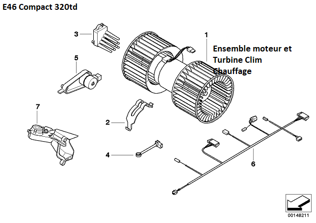 [ BMW E46 320TD compact an 2004 ] Bruit anormal ventilation 64_08211