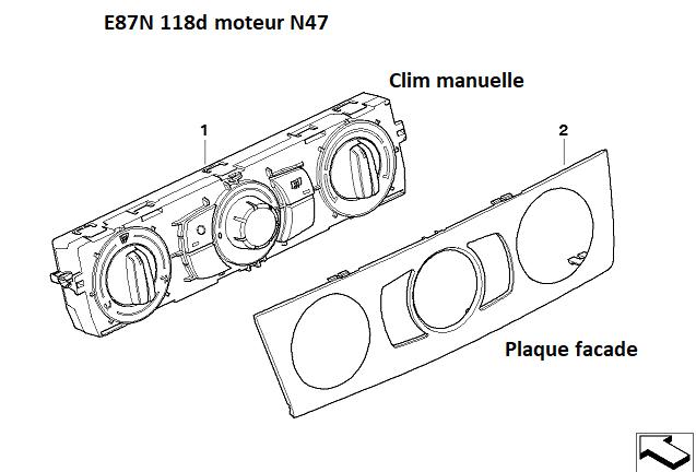 [ Bmw E87N 118d n47 an 2008 ] Climatisation non fonctionnelle 64_14410