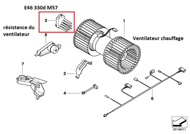 [ BMW e46 Touring 330D an 2002 ] problème de ventilateur chauffage et alarme 64_b0010